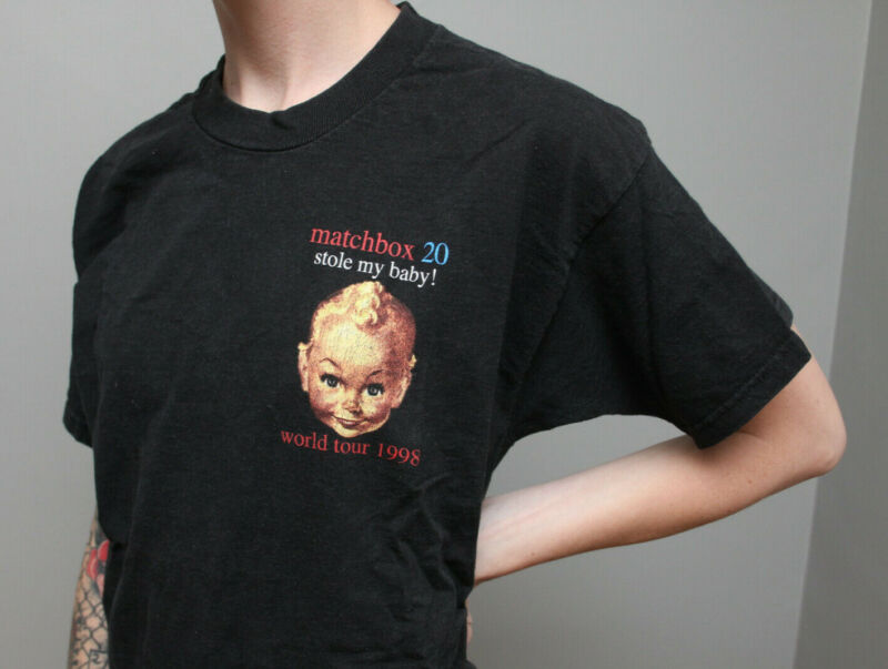vtg MATCHBOX TWENTY Stole my Baby 90s concert t shirt 20 rock band tour 1998 M