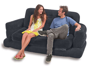 Catalogue return intex inflatable two person pull out sofa bed 68566
