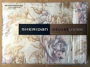 SHERIDAN DELUXE-LIVING QUEEN BED TAILORED QUILT COVER,  RRP $300 Enmore Marrickville Area Preview