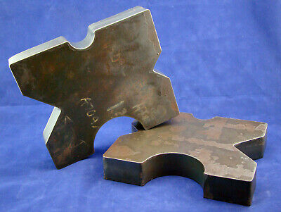 Pair 8.5x10 Arbor Plates 1.625 Thick Hydraulic H-frame Shop Press V-cut