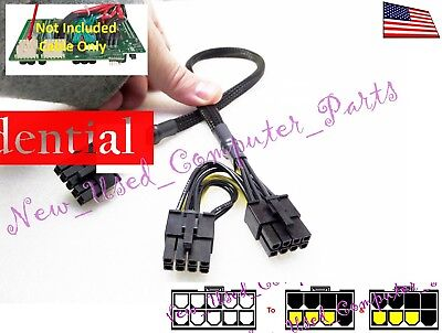 """➨➨➨ 18"""" HP Server DL580 G7 10-Pin to Two 8-Pin PCI-E Power Solution ➨➨➨"""