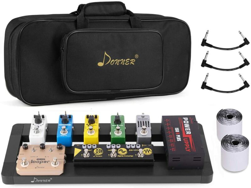 Donner Guitar Pedal Board Case DB-4 Disassembled Pedalboard 20