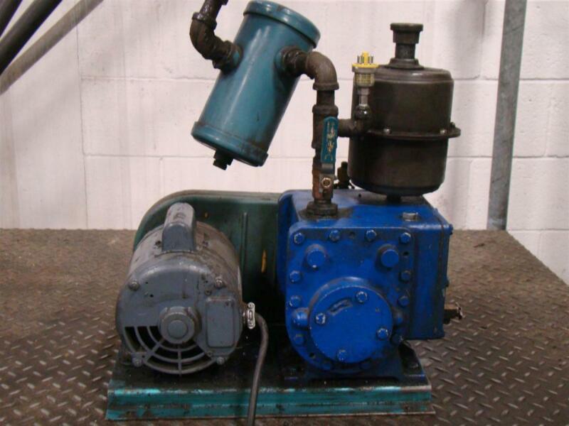 Tuthill Vacuum Systems Kinney High Vacuum Pump 1/2HP 115/208-230V 1725Rpm TB-3 2