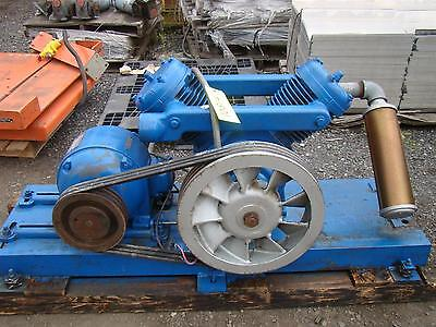 Kellogg-american Skid Mount Air Compressor Model K40at Ge 5hp Motor 220440v 3