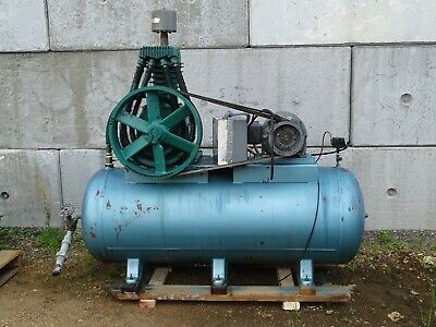 10hp Piston Type Recipicating Air Compressor Horziontal Tank 230460v 3-ph