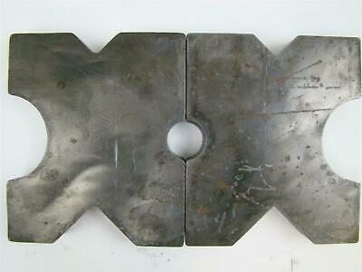 Pair 8.5x10 Arbor Plates 1.5 Thick Hydraulic H-frame Shop Press V-cut