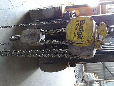 Budgit 3-ton Chain Hoist Manual Chain Fall 42 Ft. Usa03