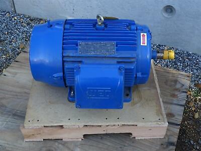Weg 20 Hp Electric Motor 230460v 3ph 1765 Rpm 256t W22 Nema Premium
