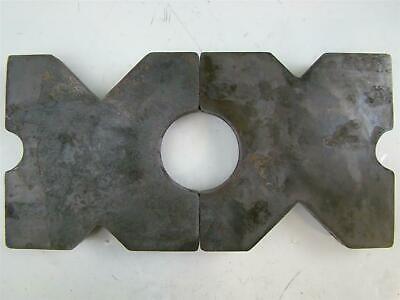 Pair 9.75x9.75 Arbor Plates 1.5 Thick Hydraulic H-frame Shop Press V-cut