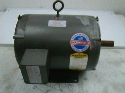 Baldor 5 Hp Electric Motor 208-230460v 1725 Rpm M3308