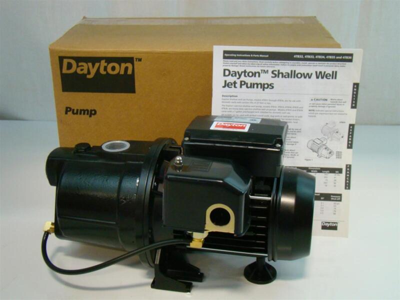 Dayton Shallow Well Jet Pump 1/2HP 115V 7.2Amps 4TB32