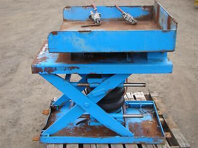 Air-castor Pneumatic Lifttilt Table 35x35