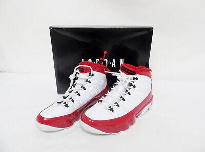 Nike Air Jordan 9 Retro White Black Gym Red 302370-160 Sz8 P8/N5664*
