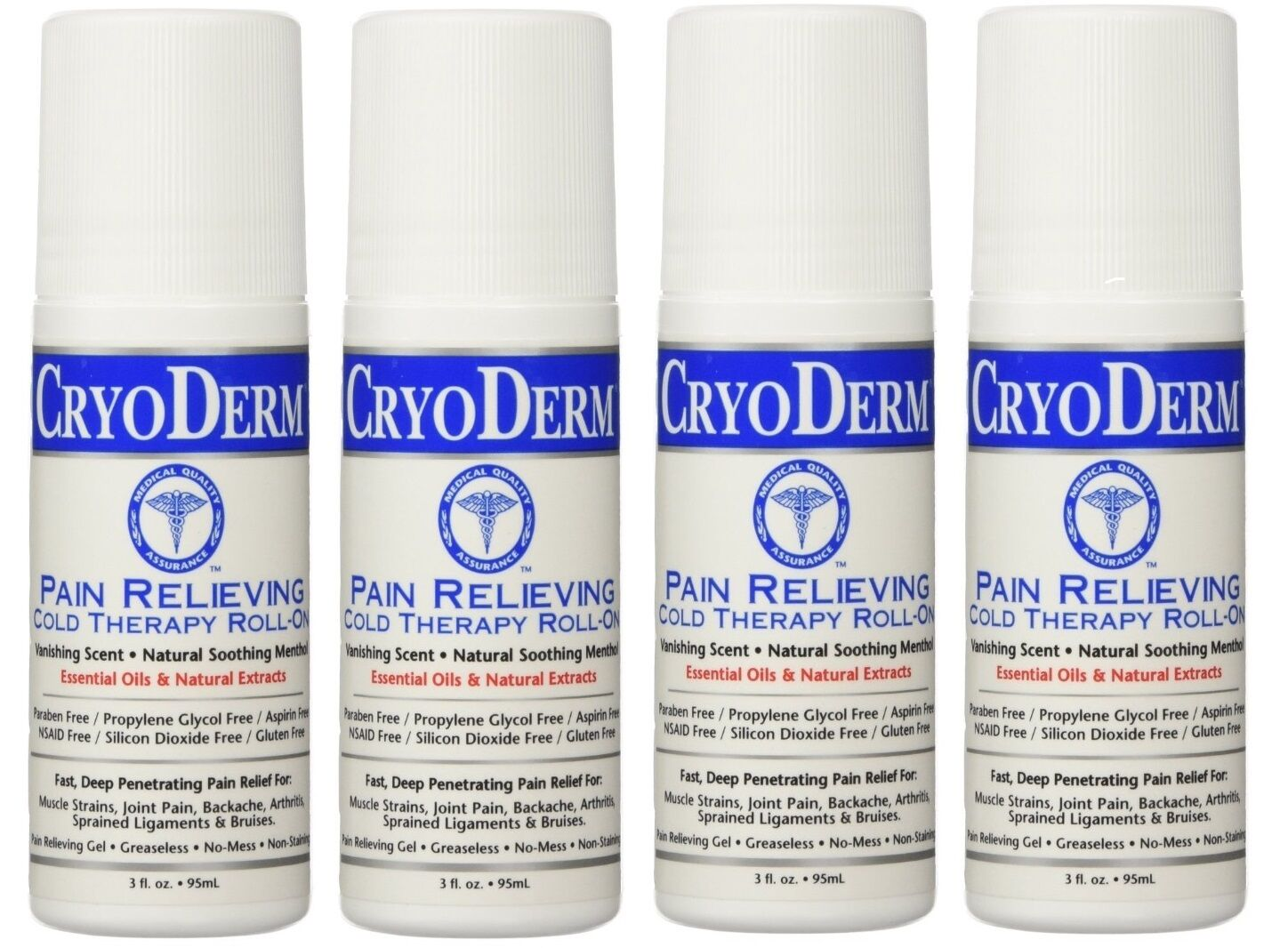 Cryderm 3 Oz. Roll-on 4-pack (brand Exp 11/2019)