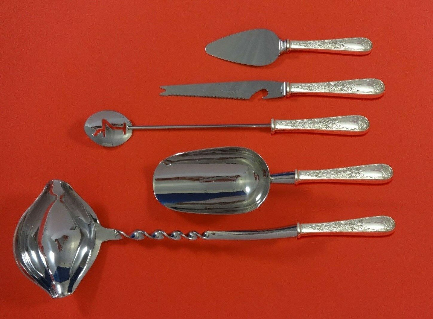 Antiques Old Maryland Engraved By Kirk Sterling Silver Flatware Set 8 Service 49 Pieces Numerous In Variety Other Antique Furniture