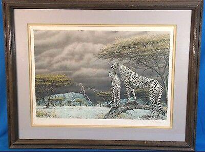 "Dennis Curry ""Cheetah of Samburu II"" Lithograph LE & Signed"
