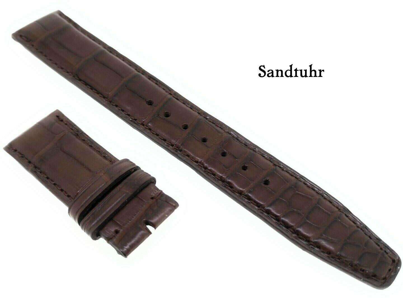 IWC Original Kroko Uhrenarmband braun 20/18 mm für Faltschliesse