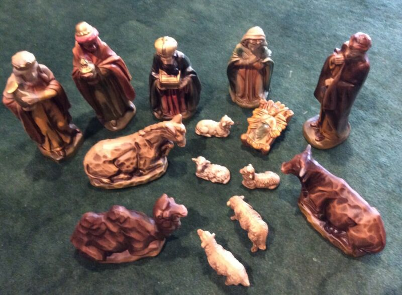 Vintage 11 Piece Made in Japan Christmas Nativity Set