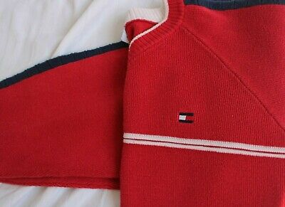 Rare Vintage 90s 00s Tommy Hilfiger Red Jumper Amazing Condition Size 8/10/12