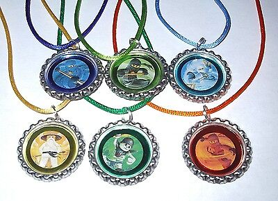 13 LEGO NINJAGO NECKLACE WITH MATCHING COLOR CORDS BIRTHDAY PARTY FAVORS