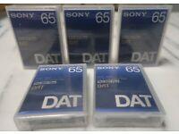 5 neue Sony PDP-125C DAT Kassetten • Digital Audio Tape