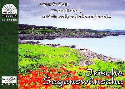 NEU! Postkartenbuch Irische Segenswünsche, 30 Postkarten mit Text — NEU!