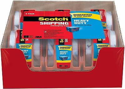 Scotch Heavy Duty Shipping Packaging Tape 1.88 Inches X 800 Inches 6 Rolls New