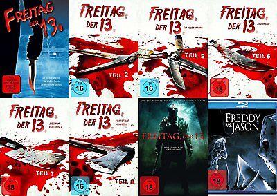 8x Jason  FREITAG DER 13. Teil Collection  REMAKE + FREDDY VS. JASON DVD BLU-RAY ()