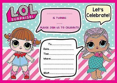 LOL BIRTHDAY PARTY INVITATIONS INVITES KIDS CHILDRENS ](Kids Invitations)