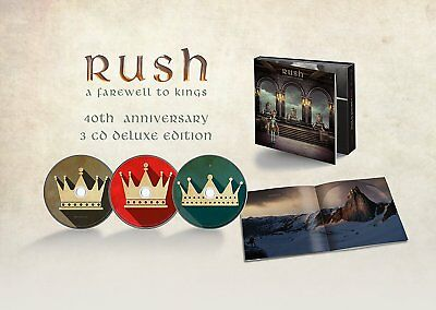 RUSH A FAREWELL TO KINGS 3 CD DELUXE 40TH ANNIVERSARY 2017