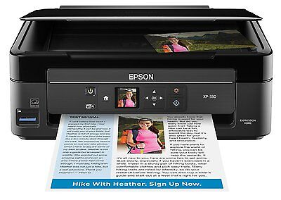 New Epson Expression Home Xp 330 Wireless Color Photo Printer With Scanner