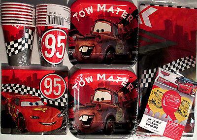 Disney CARS Formula Racer Birthday Party Supply Kit Pack Set w/ Balloons
