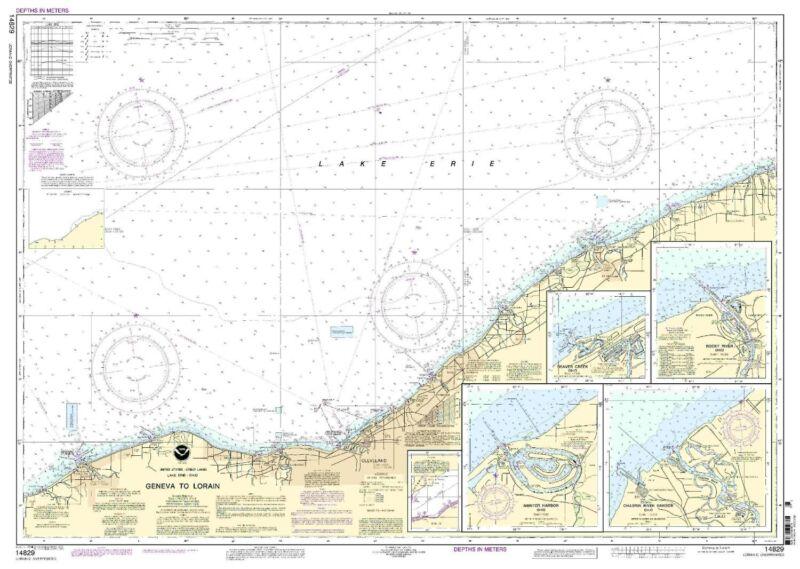 Chart Geneva to Lorain;Beaver Creek;Rocky River;Mentor Harbor;Chagrin River
