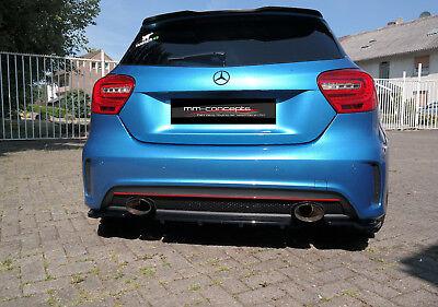 CUP Diffusor Ansatz + Seiten CARBON Mercedes A Klasse W176 AMG Heck Stoßstange