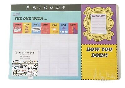 New Friends Tv Show Series 52 Weekly Desk Planner To Do List New Sealed