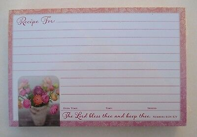 Colorful vase flower 50 Lined Recipe Cards 4x6 Legacy paper Bridal shower gift - Bridal Shower Recipe Cards