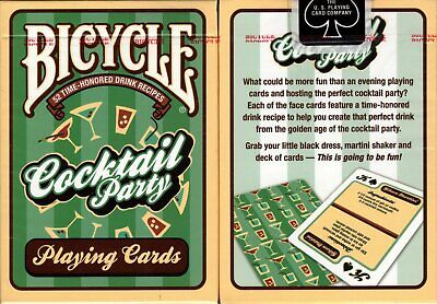 Cocktail Party Games (Cocktail Party Deck Bicycle Playing Cards Poker Size USPCC Drinking Game)