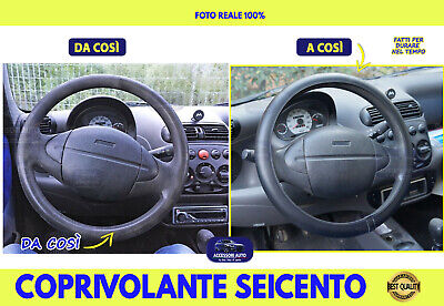 Coprivolante Fiat Seicento1998>2010 Coprivolanti 600 Sterzo Manubrio Auto kit cm