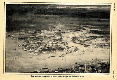 Das Ziel der bulgarischen Armee: Konstantinopel am Goldenen Horn von 1912