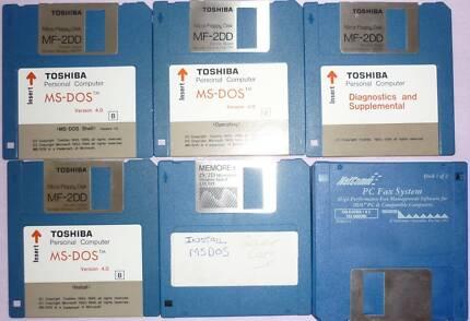 MS-DOS Toshiba Operating System Version 4.0 (rare as)