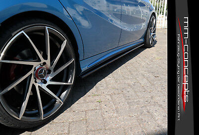 CUP Seitenschweller Ansätze für Mercedes A Klasse W176 AMG Line Side Skirts