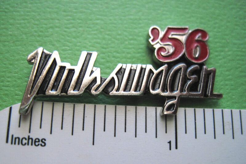 1955 - 1988  VW  VOLKSWAGEN  script  -  hat pin, lapel pin, tie tac, hatpin
