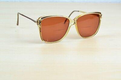 Gucci Klar Linse Rahmen Rose Farbig Linse & Arm Vintage Brille 2305 Italien