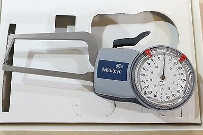 Mitutoyo External Thickness Point Dial Caliper Gauge Gage 0-20mm 0.01mm
