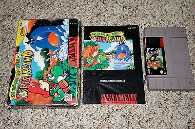 Super Mario World 2 Yoshi's Island (Super Nintendo SNES, 1995) Complete FAIR A B