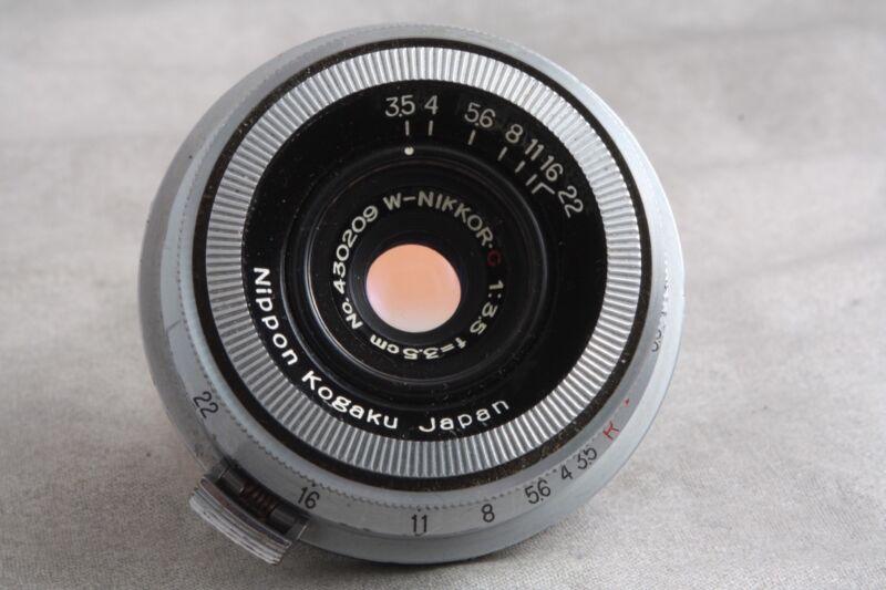 3.5cm 3.5 W Nikkor C, Rangefinder Lens