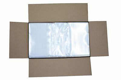 100 CLEAR 120L Flat Packed Refuse sacks / Bin liners - 50cm x 86cm x 111cm