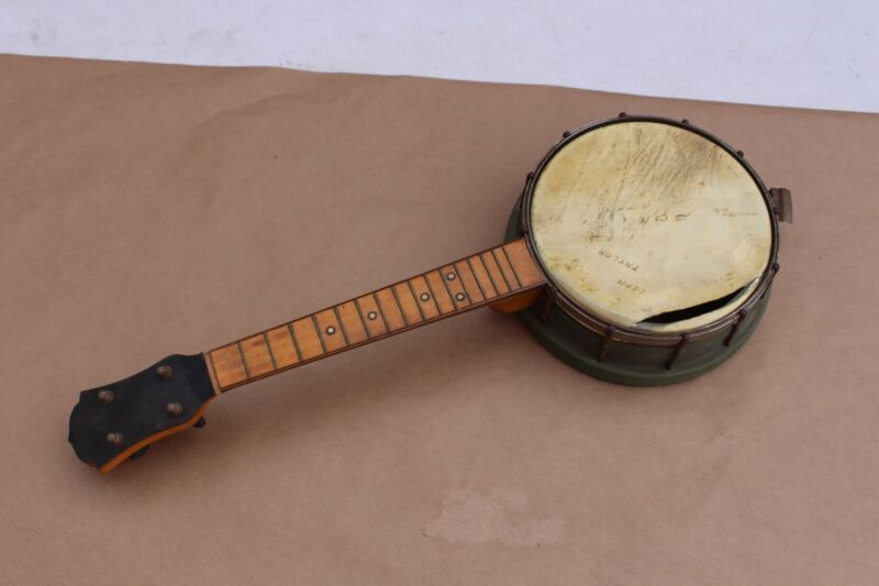 Rare Early 1920s National Metal Body Banjo Ukulele Banjolele