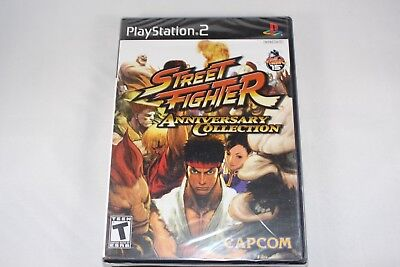 Street Fighter Anniversary Collection  Sony Playstation 2  New Factory Sealed