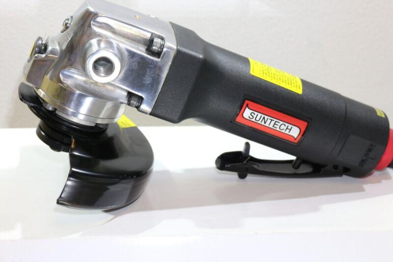 "Suntech 7"" Pneumatic Air Angle Grinder 8,500 RPM 1.3 HP Spindle Lock"
